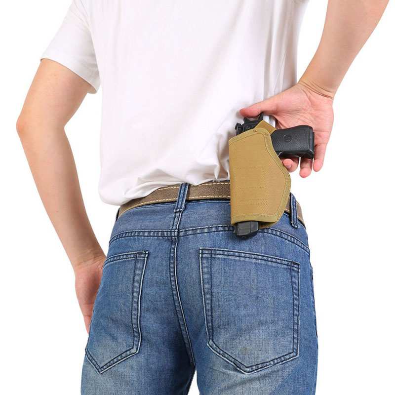 Security & Protection 1pcs Adjustable Concealed Carry Ankle Leg Holster Magazine Pouch Concealed Pistol Carry B2cshop