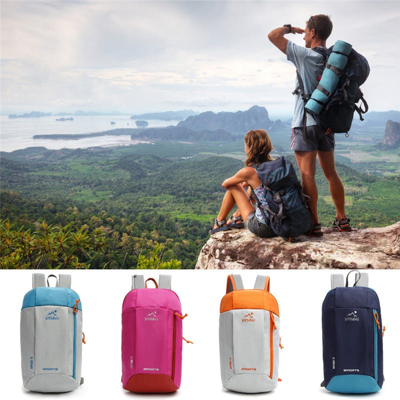 b4a2c112461b Men Women Nylon Waterproof Travel Backpack Outdoor Sport Hiking Camping  Backpack Mountaineering Bag Travel Tactical Backpack