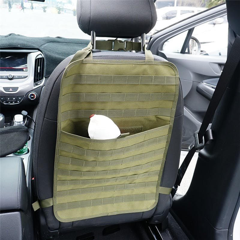 Tactical Molle Car Seat Organizer 1000D Nylon Back